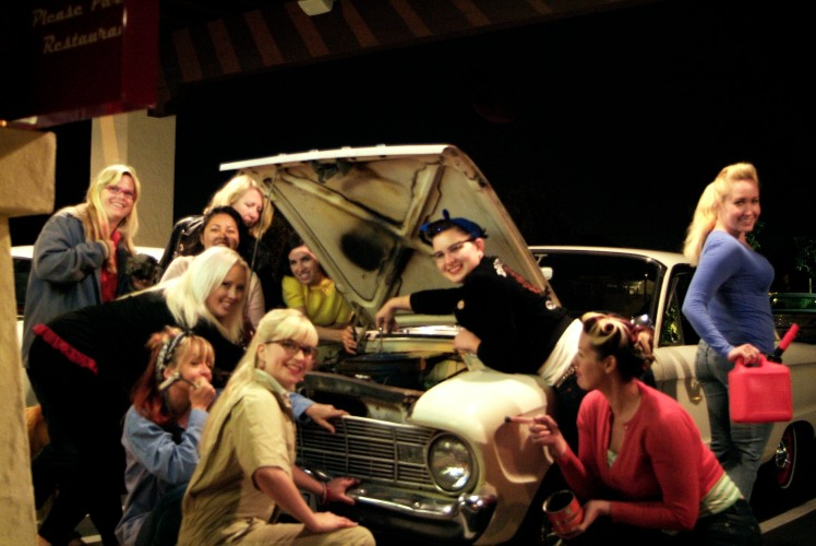 gasoline girls all ladies classic car club